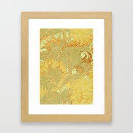Sunflowers Golden Garden Framed Art Print