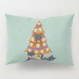 Meowy christmas sugar skulls Pillow Sham
