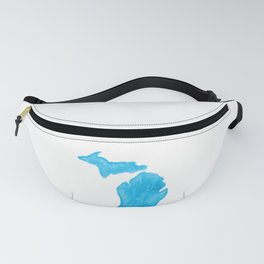 Watercolor Michigan Fanny Pack