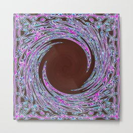 In The Pink Colorfoil Bandanna Twirl Metal Print
