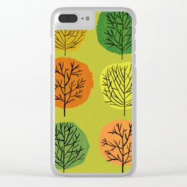 Tidy Trees All In Pretty Rows Clear iPhone Case