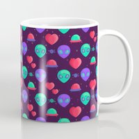 kawaii Mugs featuring Kawaii Aliens by badOdds