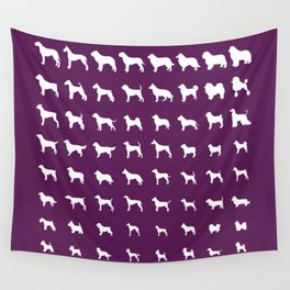 All Dogs (Plum) Wall Tapestry