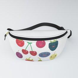 Kawaii Cherry Strawberry Raspberry Blackberry Blueberry Cranberry Cowberry Goji Grape Fanny Pack