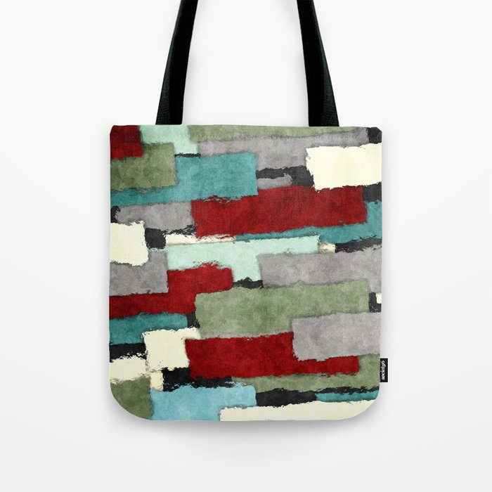 Colorful Patches Abstract Tote Bag