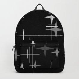 Mid Century Modern Stars (Black) Backpack