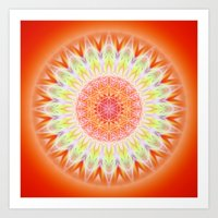 health Art Prints featuring Mandala Health by Christine baessler