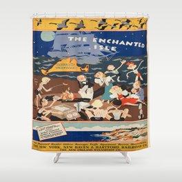 Vintage poster - Martha's Vineyard Shower Curtain