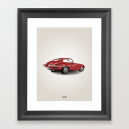 Jaguar E-Type Series 1 (1961-1968) Framed Art Print