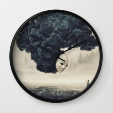 The Selfie Dark Surrealism Wall Clock
