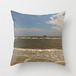 St Simons Island Beach Throw Pillow