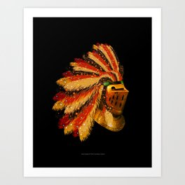 Indian Knight 129WP Art Print
