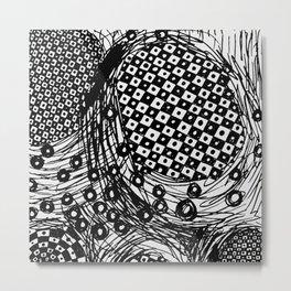 pulsating checkers Metal Print