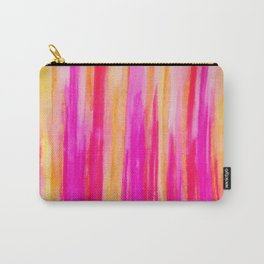 Welcome to Funky Town - Disco Inferno Dance Party Bold Rainbow Stripes Abstract Watercolor Painting Carry-All Pouch