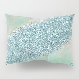 Opal unicorn rainbow Pillow Sham
