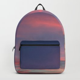 Pink sky in evening Backpack