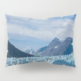 Glacier and Mountains in Alaska Pillow Sham
