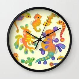 Pipefish - bright Wall Clock