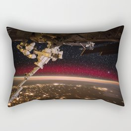 239. Flying Over An Aurora Rectangular Pillow