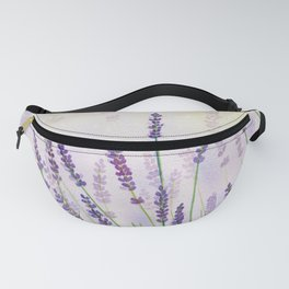 Lavender Flowers Watercolor Fanny Pack