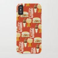 junk food iPhone & iPod Cases featuring Junk Food by Threelittledwarfs