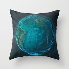 Globe: Relief Atlantic Throw Pillow