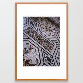 Roman Tiles Framed Art Print