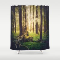 outdoor Shower Curtains featuring Come to me by HappyMelvin