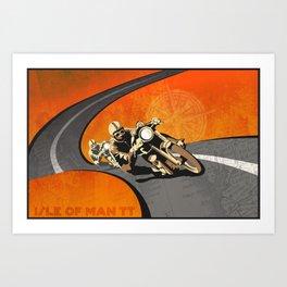 vintage Isle of Man TT motor race poster Art Print