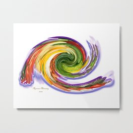 The whirl of life, W1.9A Metal Print