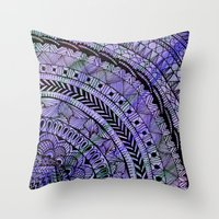 zentangle Throw Pillows featuring Zentangle by Doodle Frisson