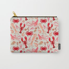 Crustaceans sea life illustration by Andrea Lauren Carry-All Pouch