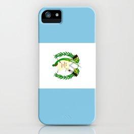 Flag of Guatemala- Guatemalan, Mixco,Villa Nueva,Petapa,tropical,central america,spanish,latine iPhone Case