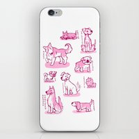 puppies iPhone & iPod Skins featuring Puppies by tomowowo