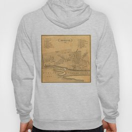 Vintage Map of Mobile Alabama (1840) Hoody