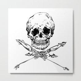 Skull and Squids Metal Print