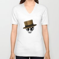 rorschach V-neck T-shirts featuring Rorschach by Oblivion Creative