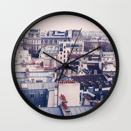 Paris Rooftops Reprise Wall Clock