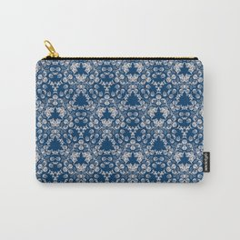 Blue Victorian Lace Carry-All Pouch