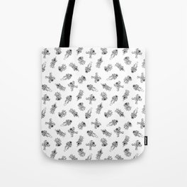 Cosmic Stranger Pattern in Black and White Tote Bag