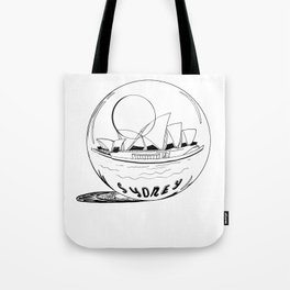Sydney in a glass globe . artwork Tote Bag