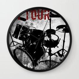 Rock 'n Roll Drums Wall Clock