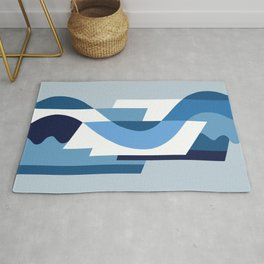 SUISSE - Art Deco Modern: BLUE MONDAY Rug