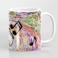 music notes Mugs featuring Music Notes by gretzky