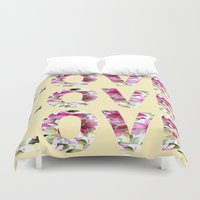 all you need is love Duvet Covers featuring ALL YOU NEED IS LOVE by Artisimo