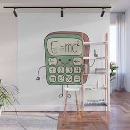 cartoon funny calculator smiles Wall Mural