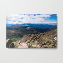 Mt. Bierstadt 'Summiting' Metal Print