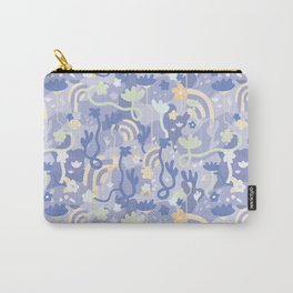 Underground Flowers Blue Carry-All Pouch