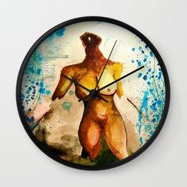 Eves 2, Surreal nude female figure, NYC artist Wall Clock