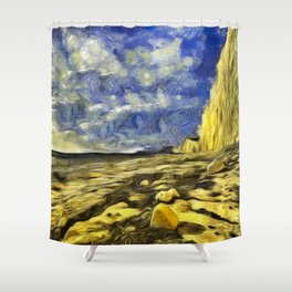 Birling Gap And Seven Sisters Van Gogh Shower Curtain